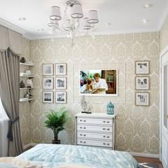 Квартира в стиле современная классика: Спальни в . Автор – Студия дизайна интерьера Маши Марченко, Эклектичный