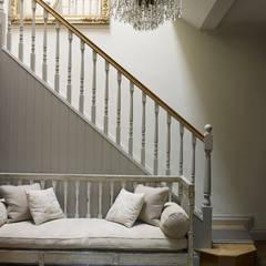 Hallway Rustic style corridor, hallway & stairs by homify Rustic