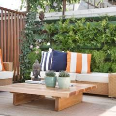 Espaço Zen: Jardins de inverno modernos por ANGELA MEZA ARQUITETURA & INTERIORES