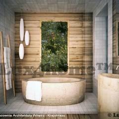 Pomysły na łazienkę - otoczaki i kamień Azjatycka łazienka od Lux4home™ Azjatycki