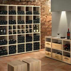 Weinregal BOON: rustikaler Weinkeller von Regalraum GmbH