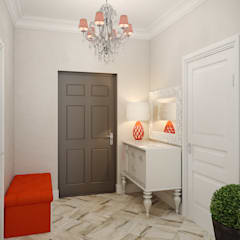 Corridor, hallway by Студия дизайна интерьера Маши Марченко,