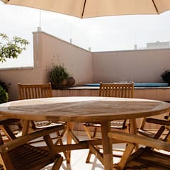 Terraço com Spa: Spas rústicos por AWDS Arquitetura e Design de Interiores