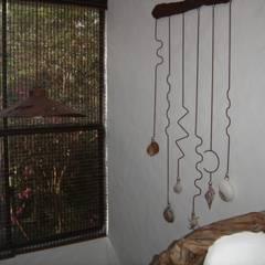 Detalle en recamara : Recámaras de estilo mediterraneo por Cenquizqui