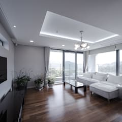 اتاق نشیمن توسطhomify, مدرن