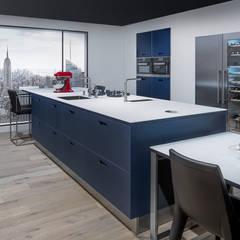 NX902 Mat glas indigoblauw :  Keuken door Eiland de Wild Keukens