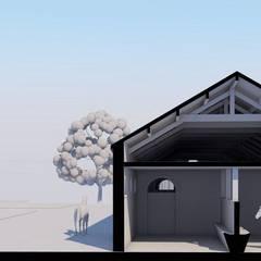 Projet rénovation en centre urbain: Lieux d'événements de style  par AeA - Architecture Eric Agro