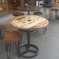 Upcycled Cable Reel Tables:  Terrace by Frances Bradley