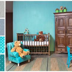 Recámara para bebé: Recámaras infantiles de estilo  por MARIANGEL COGHLAN