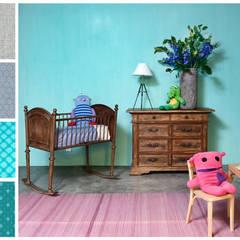 Paletas de color: Recámaras infantiles de estilo  por MARIANGEL COGHLAN, Rústico