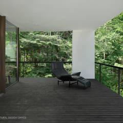 035カルイザワハウス: atelier137 ARCHITECTURAL DESIGN OFFICEが手掛けたテラス・ベランダです。,モダン 木 木目調