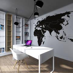 Gabinet Skandynawskie domowe biuro i gabinet od Studio Malina Skandynawski
