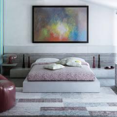 Camera matrimoniale in mansarda: Camera da letto in stile  di Arienti Design