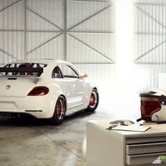 It's time to go: Garage/Rimessa in stile  di Arienti Design