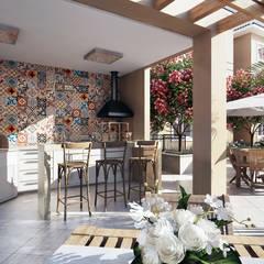 Condomínio São Roque: Terraços  por Lodo Barana Arquitetura e Interiores