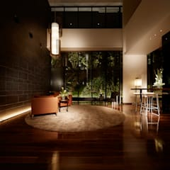 Lounge: WORKTECHT CORPORATIONが手掛けた和室です。,モダン
