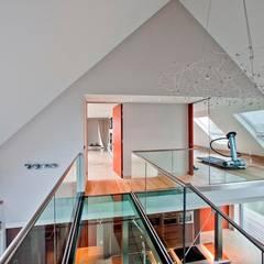 Glazen Balustrade binnen:  Fitnessruimte door Buys Glas,