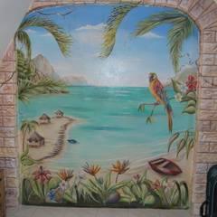 la polynésie : Salle à manger de style  par Emilie Cardinale