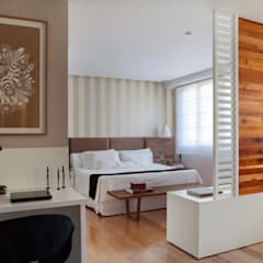 غرفة نوم تنفيذ Da.Hora Arquitetura