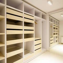 Realizacja projektu domu 160 m2 pod Krakowem: styl , w kategorii Garderoba zaprojektowany przez Lidia Sarad