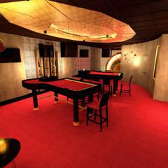 Projekt wnętrza kasyna 90 m2 w Warszawie: styl , w kategorii Miejsca na imprezy zaprojektowany przez Lidia Sarad