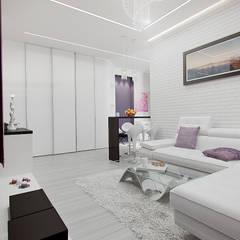 2-х комнатная квартира в Москве Гостиная в скандинавском стиле от Rustem Urazmetov Скандинавский