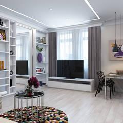Дизайн гостиной на ул. Песчаная. Москва: Гостиная в . Автор – Rustem Urazmetov, Минимализм
