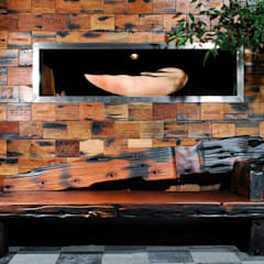 Reclaimed Ship Wood Used Worldwide:  Walls by ShellShock Designs