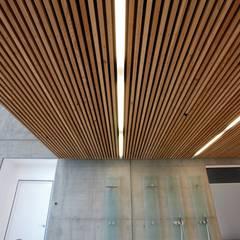 Deckon Asma Tavan Sistemleri – DeckoWood:  tarz Koridor ve Hol, Minimalist