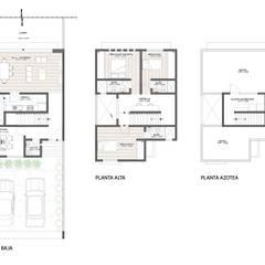 Representación arquitectónica 2D: Casas de estilo  por ODRACIR