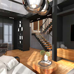 Интерьер дома в современном стиле : Гостиная в . Автор – GM-interior