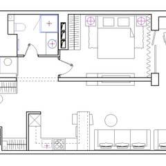 Дизайн квартиры на Яхтенной: Окна в . Автор – ART-INTERNO