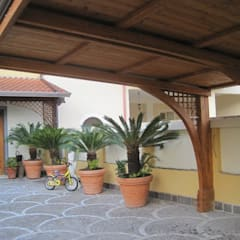 Garajes y galpones de estilo  por RicreArt - Italmaxitetto, Mediterráneo