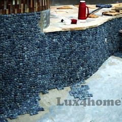Pebble Wall:  Pool by Lux4home™ Indonesia, Modern
