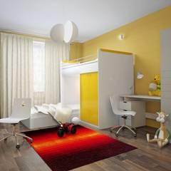 3-х комнатная квартира 112.60m²: Детские комнаты в . Автор – PLANiUM