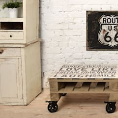 Stolik kawowy Motto/ Motto coffee table 60x80 od Tailormade Furniture Industrialny