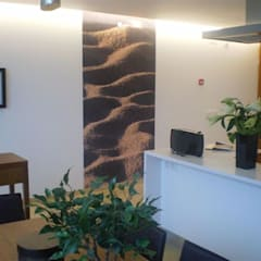 OFICINAS_SUELOS Y PAREDES: Oficinas y Tiendas de estilo  de SUELOS Y PAREDES SIN OBRAS