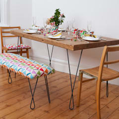 Twisted legged table and matching bench:  Dining room by Deja Ooh