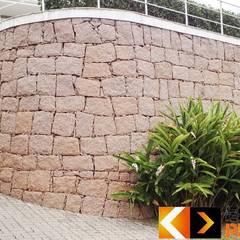 Стены в . Автор – Estância Pedras, Рустикальный