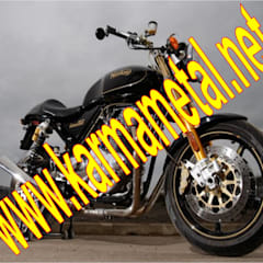 KARMA METAL – KARMA METAL-Motosiklet Parkı Demiri İmalatı Parkları Ölçüleri: endüstriyel tarz tarz Garaj / Hangar