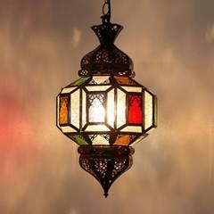 Orientalna lampa / latarnia FAISAH: styl , w kategorii Miejsca na imprezy zaprojektowany przez DomRustykalny.pl