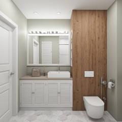 Скандинавское настроение: Ванные комнаты в . Автор – Ekaterina Donde Design