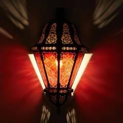 Orientalna lampa ścienna BELUTI czerwona: styl , w kategorii Miejsca na imprezy zaprojektowany przez DomRustykalny.pl