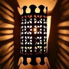 Orientalna żelazna lampa ścienna EWL37: styl , w kategorii Miejsca na imprezy zaprojektowany przez DomRustykalny.pl