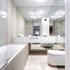 Mieszkanie singla Architektura Wnętrz Daria Zaremba Nowoczesna łazienka