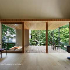 031軽井沢Tさんの家: atelier137 ARCHITECTURAL DESIGN OFFICEが手掛けたリビングです。