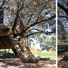 Casa en el árbol enraizada.: Dormitorios infantiles de estilo  de Urbanarbolismo