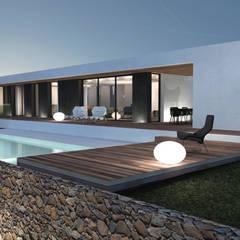 Maison contemporaine Aix-en-Provence: Maisons de style de style Moderne par ARRIVETZ & BELLE