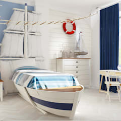 Nursery/kid's room by Samarina projects, Minimalist