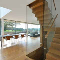 Carreg a Gwydr:  Dining room by Hall + Bednarczyk Architects